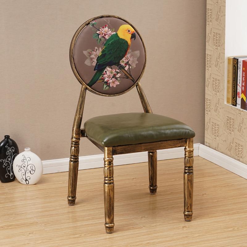 Nail Chair Retro Restaurant European Iron Dining Chair Creative Hotel Personality Makeup Chair Nail Stool Chair