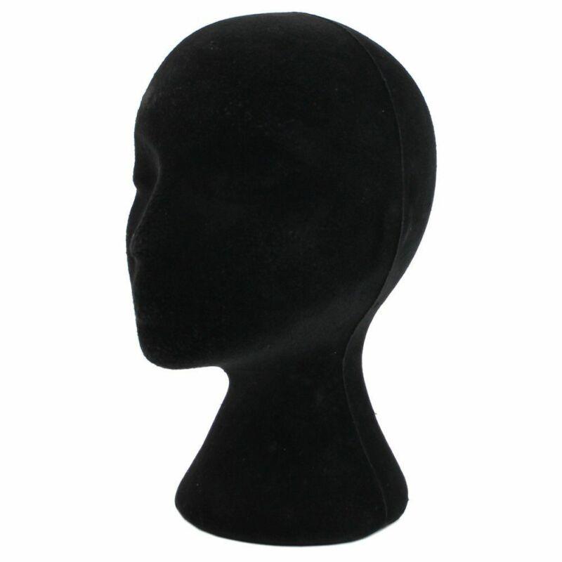 Female Styrofoam Mannequin Black Wig Glasses Hat Display Stand Popular Foam Head Model Storage Holders White 1PC