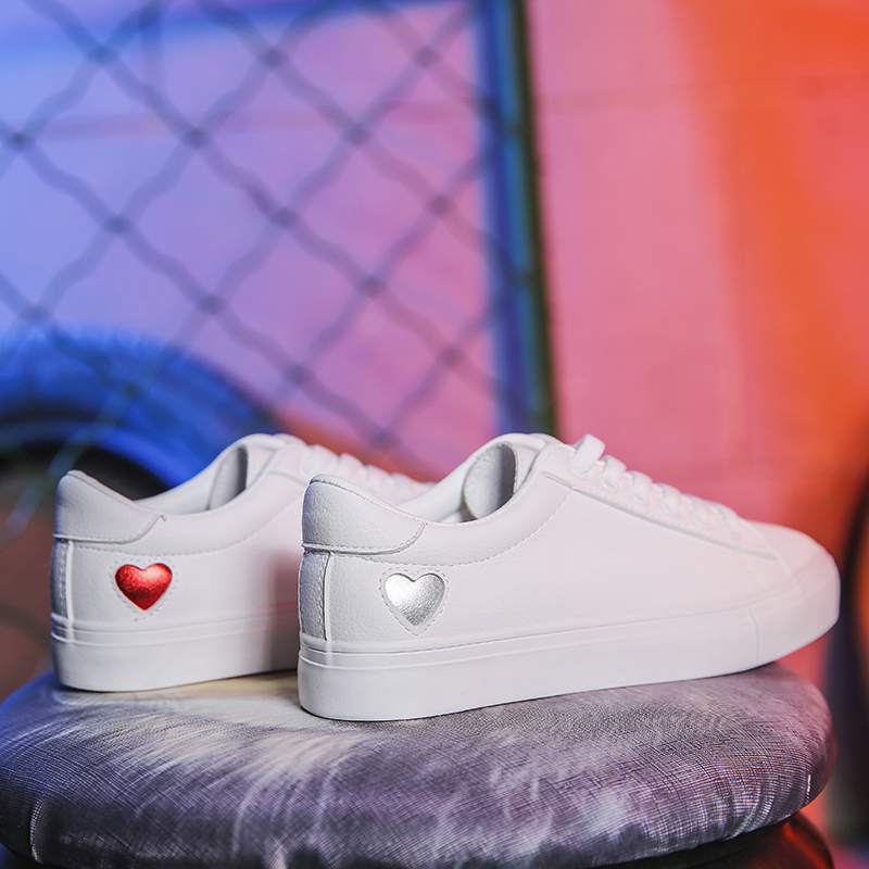 New Spring Tenis Feminino Lace-up White Shoes Woman Pu Leather Solid Color Female Casual Women Sneakers Zapatos