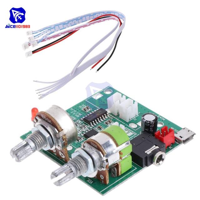 Diymore Módulo de tarjeta de amplificador estéreo Digital, 5V, 20W, 2,1 canales, 3D Surround, Clase D, para Arduino con cables