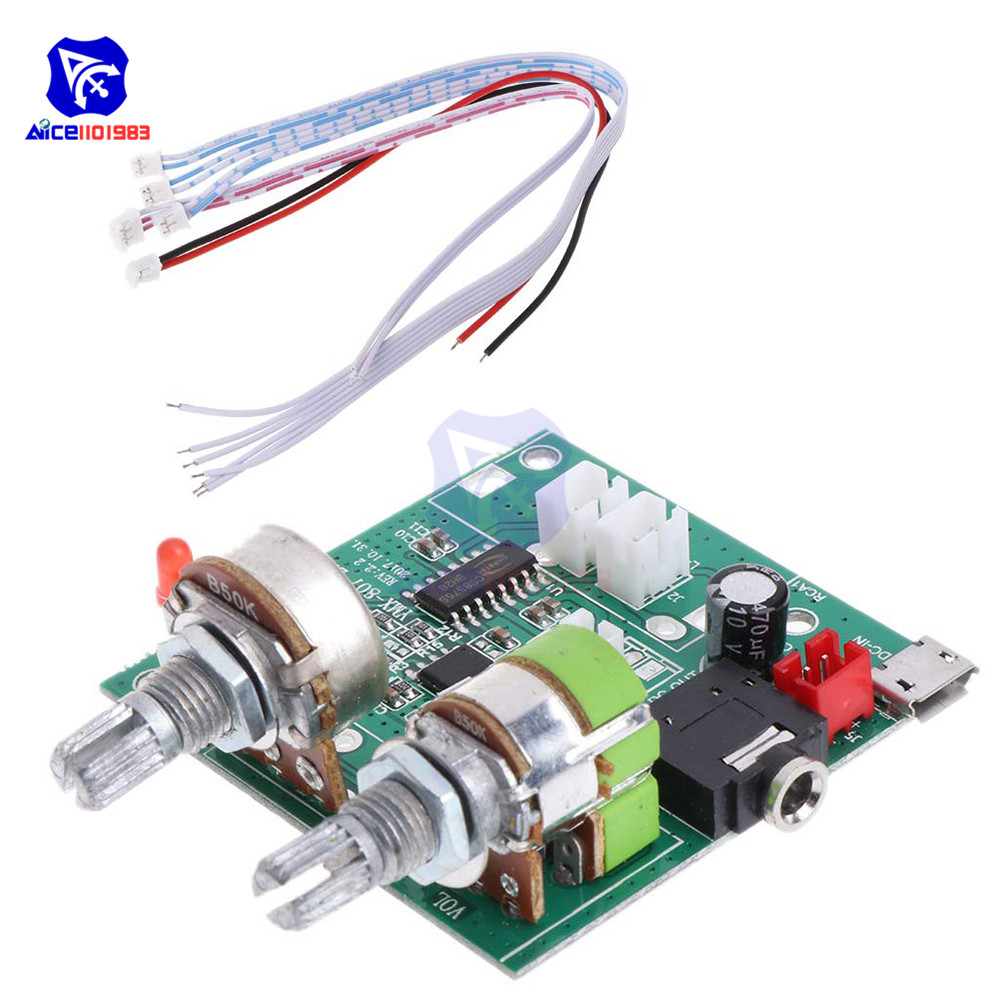 diymore 5V 20W 2.1 Channel 3D Surround Digital Stereo Class D Amplifier AMP Board Module for Arduino with Wires image