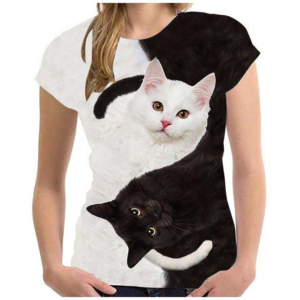 Fashion 2020 New Cool T-shirt Men/Women 3d Tshirt Print two cat Short Sleeve Summer Tops Tees T shirt Male S-6XL