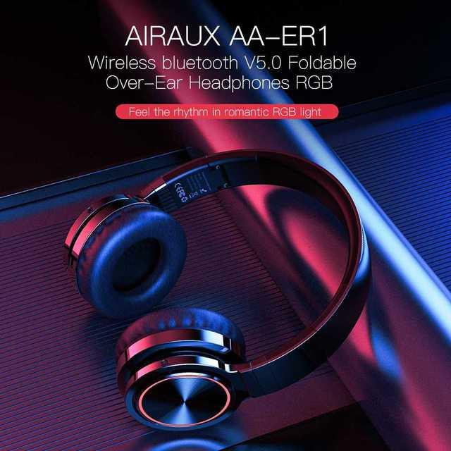 BlitzWolf AIRAUX AA-ER1 bluetooth Wireless Headphones HiFi Stereo Music Headset RGB HD Call TF Card Earphone for PC Computer 2