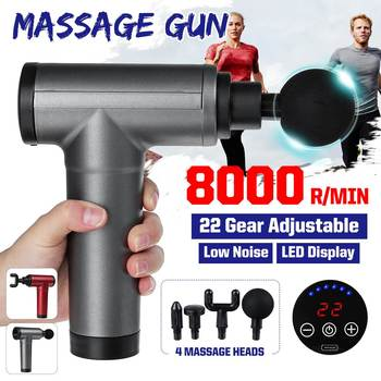 22-Gears LCD Display Muscle Massager Gun Deep Muscle Therapy Slimming Shaping Muscle Pain Relief Relaxation 8000R/MIN