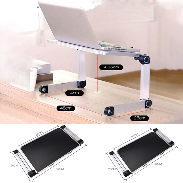 Adjustable Computer Table Aluminum Alloy Laptop Desk 360 Degree Laptop Stand Foldable Computer Table Stand Tray Notebook Stand 6