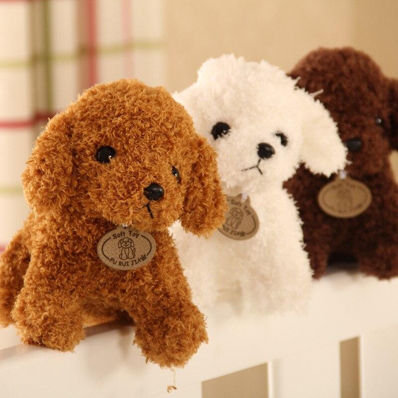18cm Small Size Simulation Teddy Dog Poodle Plush Toys Animal Suffed Doll Plush Toys
