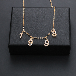 Lateefah Custom Name Necklace Women Special Date Year from 1980 to 2002 Personality Collares Jewelry Number or Letter Necklaces
