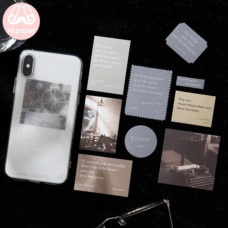 Mr.paper 30pcs/lot Instagram Style Butter Paper Kraft Card Journaling Bullet Scrapbooking Material Paper Fresh Words LOMO Cards 4