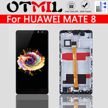 Originele Lcd Voor Huawei Mate 8 Lcd Touch Screen Frame Digitizer Vergadering Voor Huawei Mate 8 Display NXT-L29 Vervanging(China)