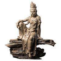 New Chinese Style Zen Free Guanyin Buddha Statue Lucky Buddha Arts Sculpture Resin Crafts Home Desktop Decoration Office R2994