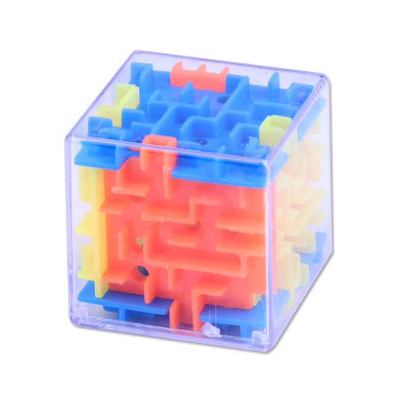 Fashion Baru 3D Cube Puzzle Labirin Mainan Tangan Permainan Case Kotak Otak Menyenangkan Tantangan Permainan Jari Mainan Hadiah Terbaik