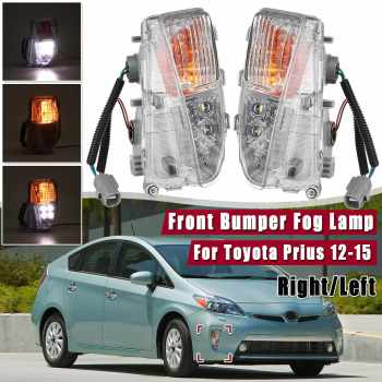 1pcs/2pcs Front Bumper Fog Lamp LED DRL Light LH/RH Driver Marker New For Toyota Prius 2012 2013 2014 2015 Car Light Assembly