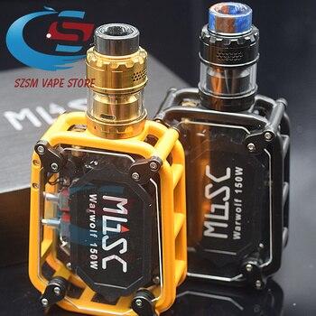 Original sub two warwolf kit with kyl V2 RTA M RTA Instant large output 3500mAh battery 150w e-cigarette Laser vape box kit original ehpro 2 in 1 fusion 150w tc kit max 150w w fusion mod