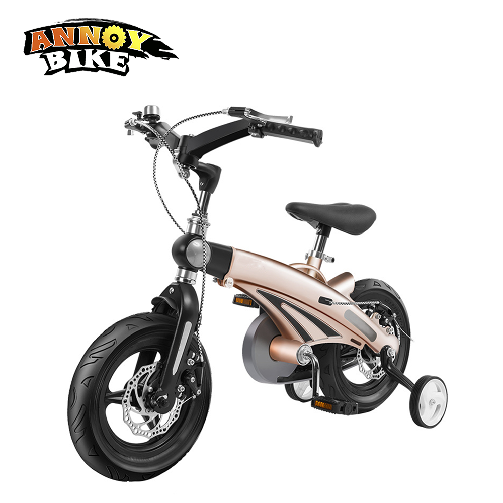 12 inch 16 inch Children Bicycle 12'' 16'' Telescopic Ride Kids Bicycle Folding Toys Children Bike Colorful Adult 2-9 Years