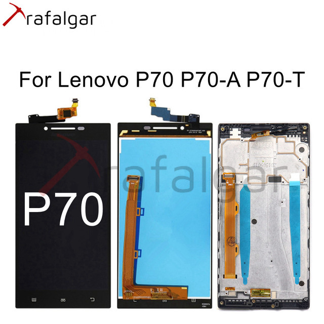 Trafalgar Display For Lenovo P70 LCD Display P70 A P70 T Touch Screen Digitizer For Lenovo P70 Display with Frame Replace