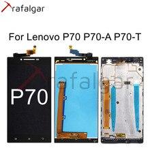 Trafalgar display para lenovo p70 display lcd P70 A P70 T digitador da tela de toque para lenovo p70 display com quadro substituir
