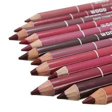 12pcs Multi-functional Waterproof Lip Liner Pencil Long Lasting  Lips Eye Brow Makeup Cosmetics