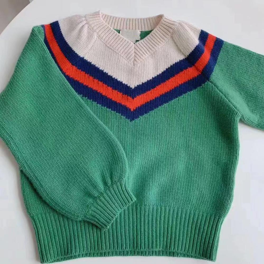 2019 nouvelle mode automne hiver célèbre Look Mon et fille filles pull vert hauts pour mère filles vêtements