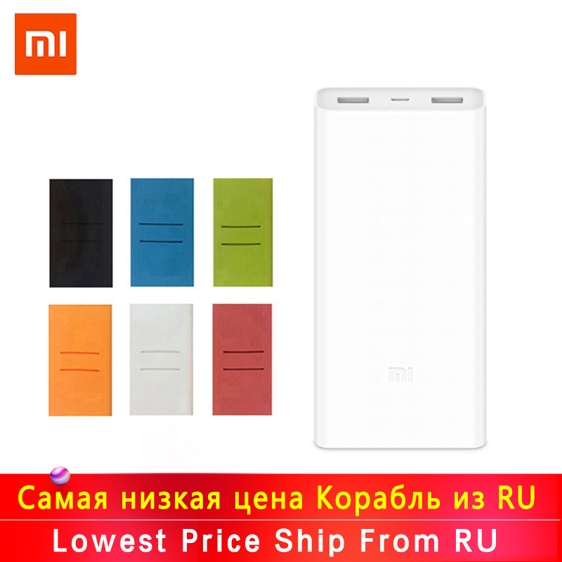 Original Xiaomi <font><b>Power</b></font> <font><b>Bank</b></font> 20000mAh 2C External Battery portable charging Dual <font><b>USB</b></font> QC3.0Mi <font><b>20000</b></font> <font><b>mAh</b></font> Powerbank charger for phone image