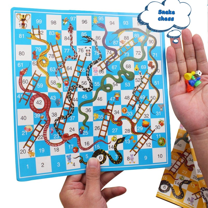 Board Game Snake Ladder Flight Chess Educational Toys Kids Parent-child Interactive Family Party Games Snakes Ladders Toy Gifts
