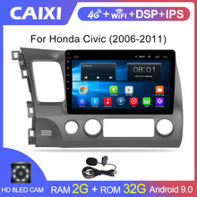 Caixi 10,1 Zoll 2Din Android 9.0 Auto Radio Multimedia-Player Für Honda Civic 2006-2011 Navigation GPS dvd Player(China)