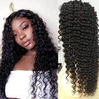 Cheap Curly Lace Front Human Hair Wigs Fast Shipping perruque boucle cheveux bresiliens Loose Deep Wave Lace Front Wig for Women