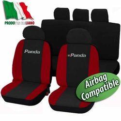 COPRISEDILI AUTO FIAT PANDA DAL 2012 BICOLORE NERO ROSSO|Elektronicznie sterowane przepustnice do samochodów|Samochody i motocykle -