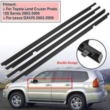 цена на NEW 4Pcs Weatherstrips Door Belts Seal Weather Strips for Toyota Land Cruiser 120 Prado 2003-2009 For Lexus GX470  2003-2009