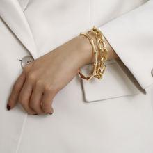 Роскошная бамбуковая цепь браслет мужской манжета для накидного