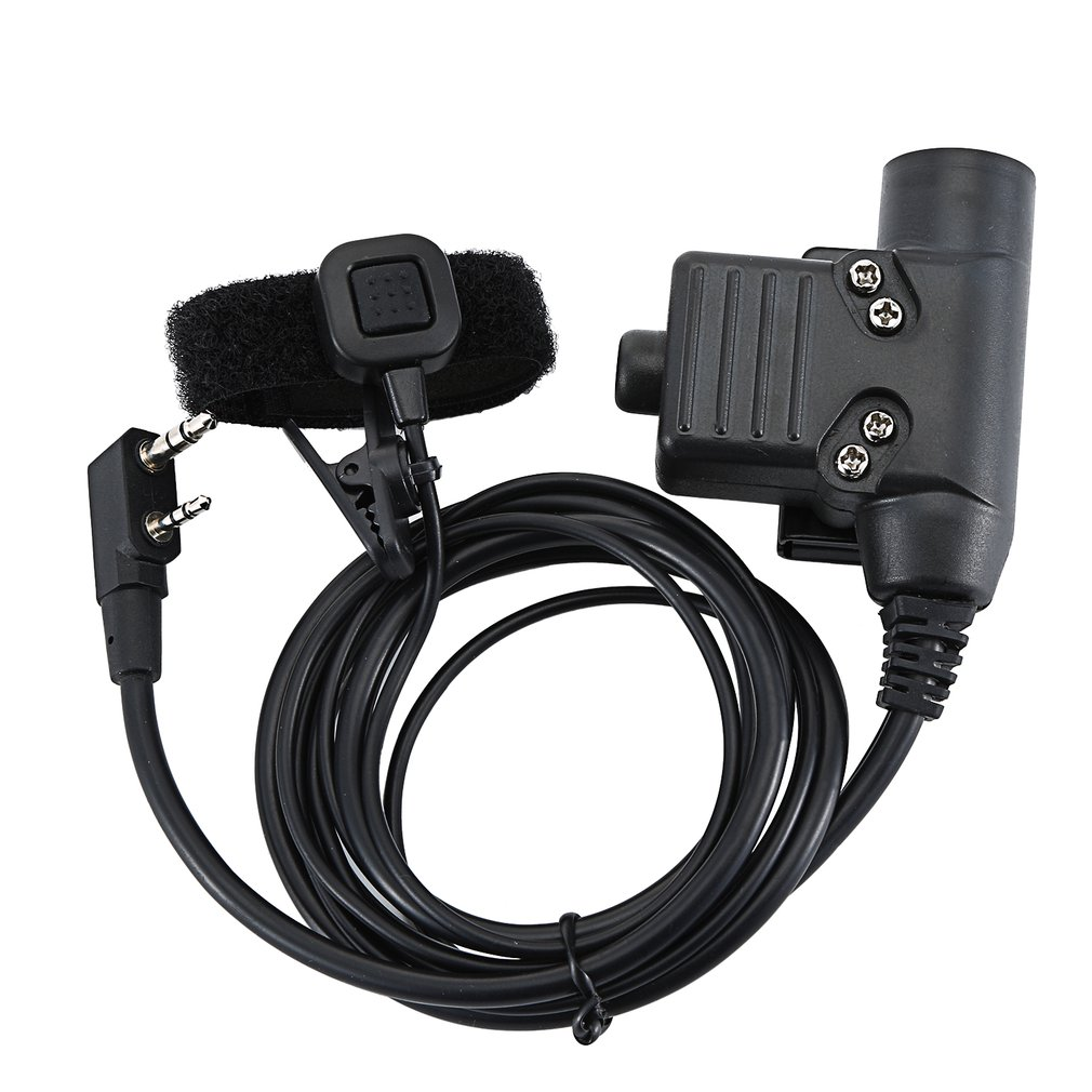 U94 Dual PTT Cable Military Adapter Z113 Standard Version For Walkie Talkie Kenwood TYT F8 For BAOFENG 5R Radio Hunting