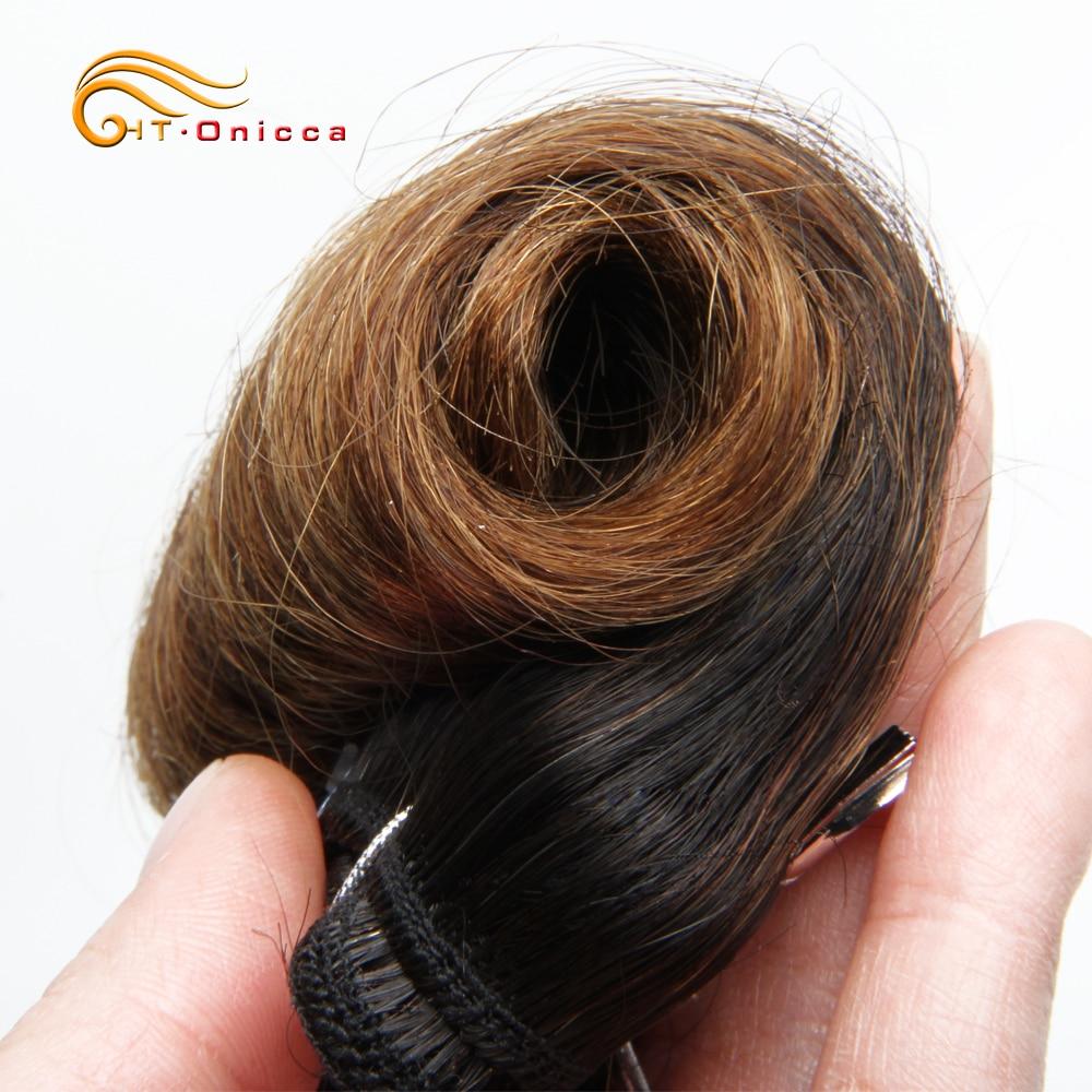 Curly Hair 4 Bundles Double Drawn  5 5 6 7 Inch  Hair  Bundles 1B 27 30 99J Color  3