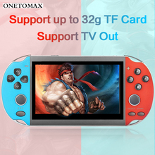 Handheld Game Console 4.3 inch HD Color LCD Screen 8G 32/64/128 Bit Video Retro Games Joypad Handheld Game Player Support TV Out 2018 portable video handheld game console retro 64 bit 3 inch 3000 video game retro handheld console to tv rs 97 retro gane 07