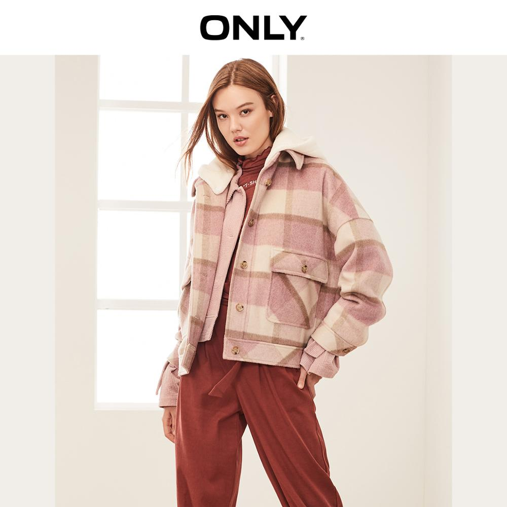 ONLY Autumn Winter Women's Short Loose Fit Woolen Coat | 11934T509