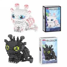 Toothless LightFury Diamond Mini Night Fury Dragon Movie Building Block Model Collection For Mirco Brick Toys