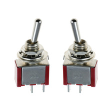 цена на 5Pcs 12V 5A on/Off Mini Miniature Toggle Switch Car Dash Dashboard SPST 2 Foot 2 Gear 6MM Toggle Switch
