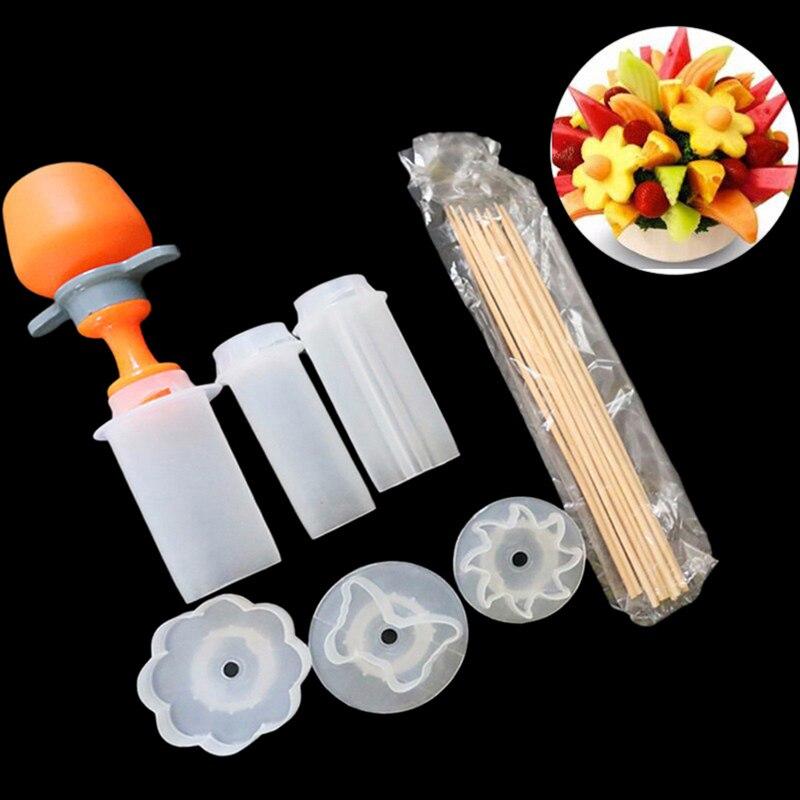 FAI DA TE Torta di Frutta di Taglio di Verdure Push Pop Shaper Cutter Cucina Decor Strumenti di Cibo Decorator Gadget Da Cucina Accessori Strumenti 1set