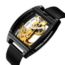Cool Black Automatic Watch Mens Luxury Business WristWatche