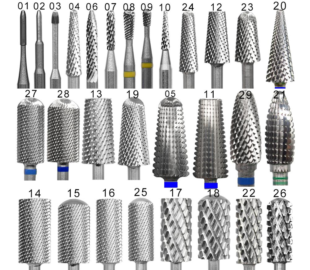 Proberra 29 type discount Carbide Tungsten barrel stable shank Accessories Cutter pedicure nail milling drill bits(China)