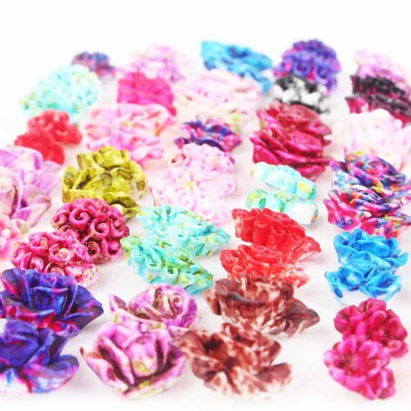 Xdodnev Rose Flower Stud Earring Set for Women Small Earring Jewelry 36 Pairs Random Mix