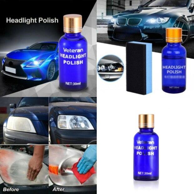 Headlight-Lens Remove-The-Oxidation Auto Car 30ml Liquid-Polish-Cleaner Hardness Restorer-Repair