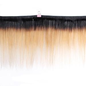 Image 2 - MOGUL HAIR 2 Bundles 50g/pc Ombre Honey Blonde Blonde Weave Bundles Indian Straight Non Remy Human Hair Extension 10 16 inch