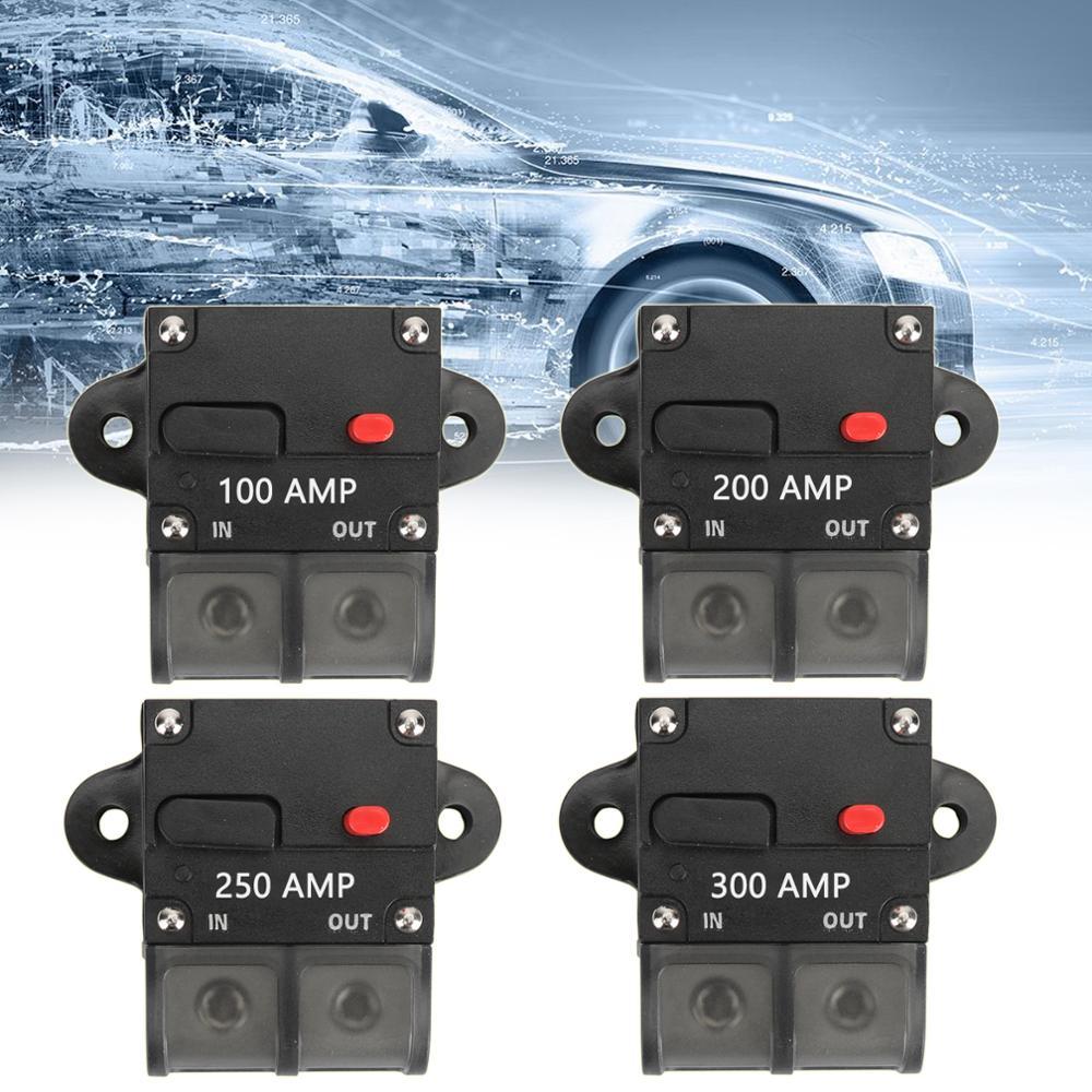 Areyourshop Automatic Circuit Breaker 100A 200A 250A 300A Manual Reset Inline Terminal Block Marine Car