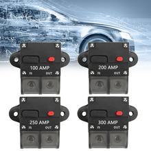Areyourshop Automatic Circuit Breaker 100A 200A 250A 300A Terminale di Reset Manuale Inline Blocco Marine Auto