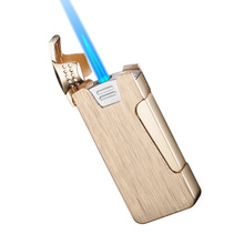 Personality Windproof Metal Lighter Flip Side Turbo Torch Fashion Model Bottom Inflatable fire starter