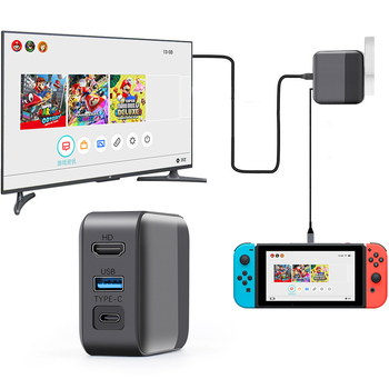 3 in 1 Multifunction Charging Dock PC Adapter USB Type-C HD Connector TV Converter for NintendoSwitch Nintendo Switch NS Console 1