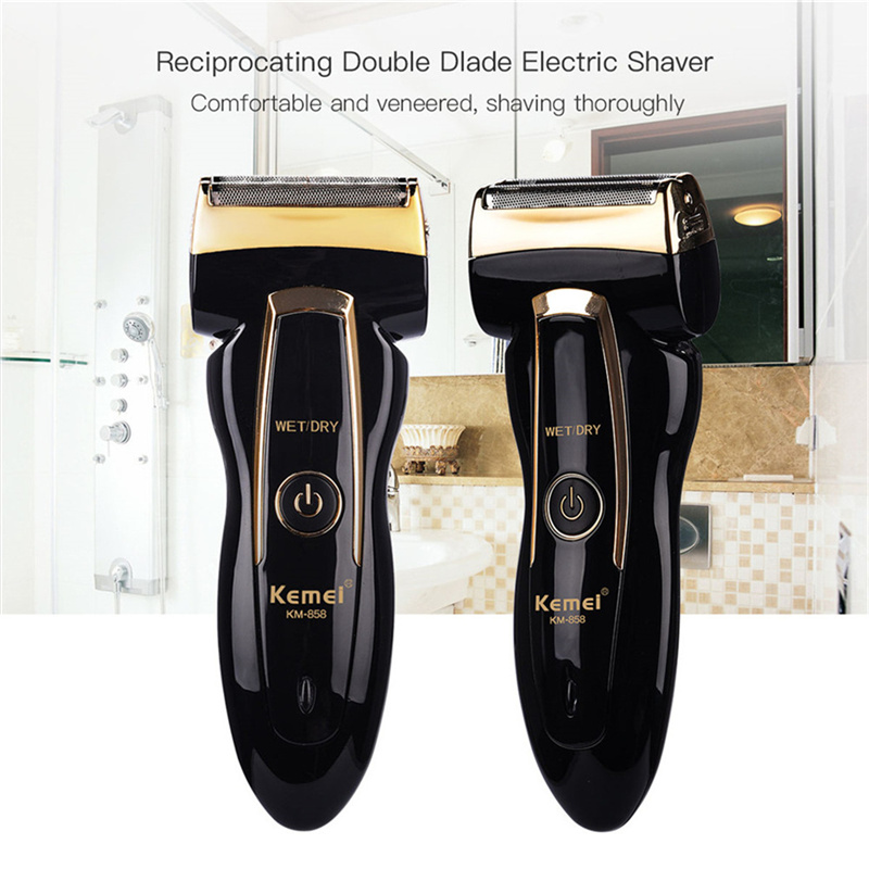 Kemei Waterproof Rechargeable Electric Razor  Blade Men's Razor Barbeador Eletrico Masculino Men Shaving Machine Beard TrImmer