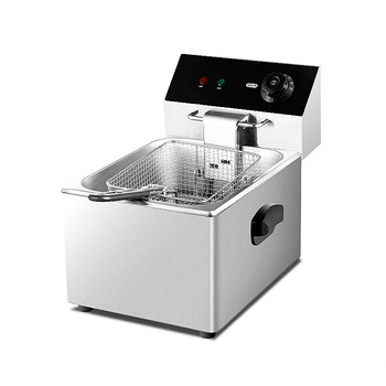 цена на Commercial Deep Fryer Electric Fryer Chicken French Fried Machine Single Cylinder Electric Fryer Equipment CKDR1330C-01