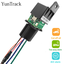 GPS Tracker Locator-System Status-Alarm Away Car-Relay Motorcycle Hide Free ACC Ce Towed