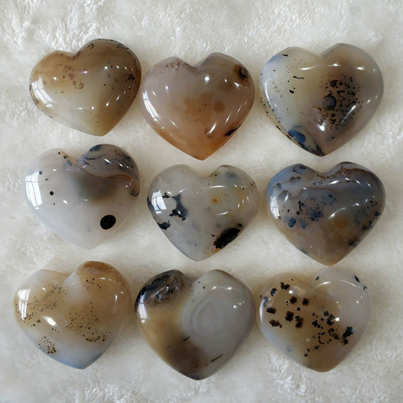 Natural water grass agate crystal original stone ornaments diy jewelry pendant