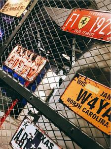 Tin-Signs Poster-Bar Decoratio-Plate Club Car-Number Wall-Garage Plaque Usa Vintage Metal
